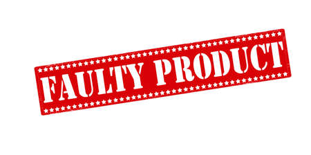 faulty: Rubber stamp with text faulty product inside, vector illustration Illustration
