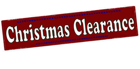 Rubber stamp with text Christmas clearance inside, vector illustration
