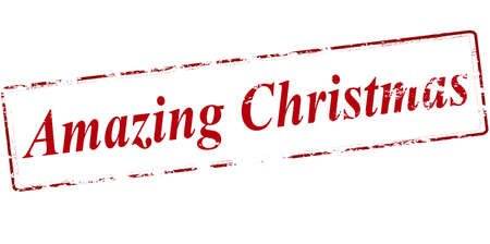 tremendous: Rubber stamp with text amazing Christmas inside, vector illustration