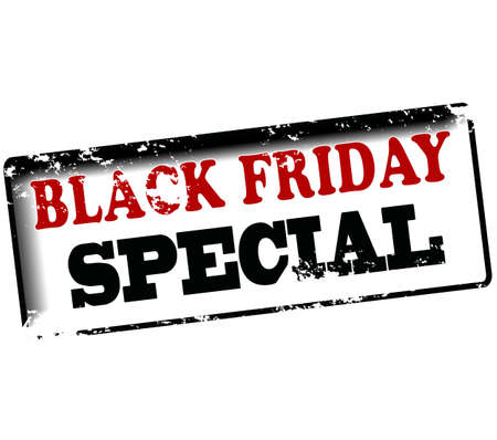 especial: Rubber stamp with text black friday special inside, vector illustration