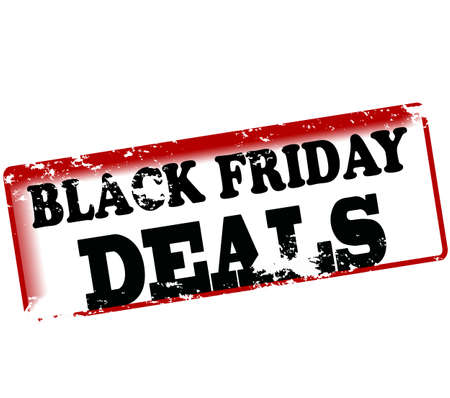 dealings: Rubber stamp with text black friday deals inside, vector illustration