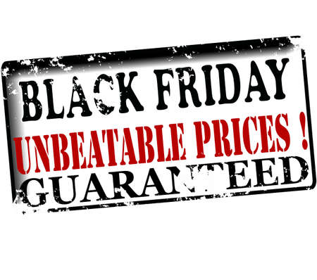 unbeatable: Rubber stamp with text black friday unbeatable prices guaranteed inside, vector illustration