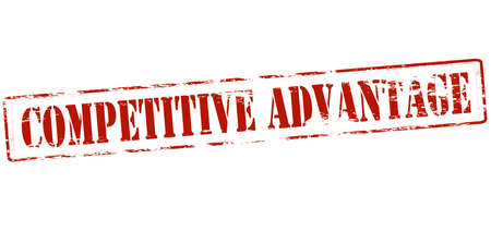 advantage: Rubber stamp with text competitive advantage inside, vector illustration