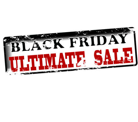 ultimate: Rubber stamp with text Black friday ultimate sale inside, vector illustration