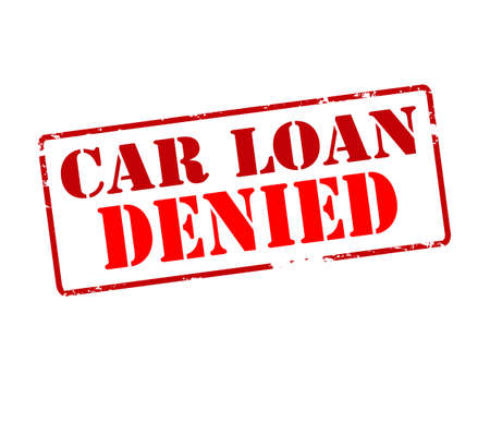 repulse: Rubber stamp with text car loan denied inside, vector illustration