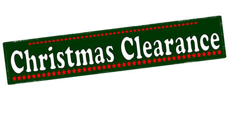 liquidation: Rubber stamp with text Christmas clearance inside, vector illustration