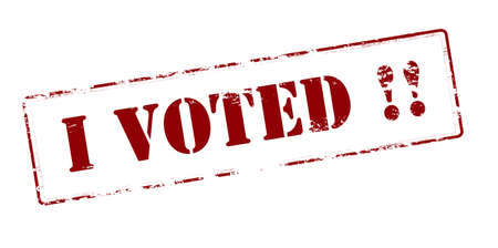 i voted: Rubber stamp with text i voted inside, vector illustration
