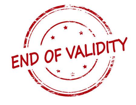 validez: sello de goma con el texto final de validez en el interior, ilustraci�n vectorial
