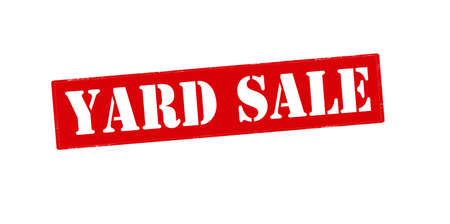 yard sign: Rubber stamp with text yard sale inside, vector illustration