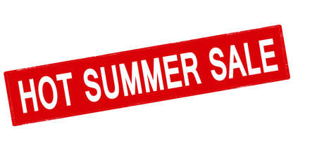 cousin: Rubber stamp with text hot summer sale inside, vector illustration