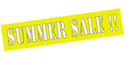 cousin: Rubber stamp with text summer sale inside, vector illustration Illustration
