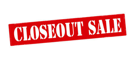 closeout: Rubber stamp with text closeout sale inside, vector illustration