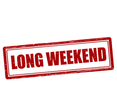 long weekend: Rubber stamp with text long weekend inside, vector illustration