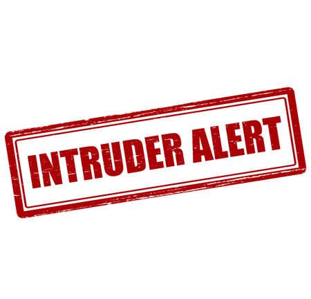 intruder: Rubber stamp with text intruder alert inside, vector illustration` Illustration