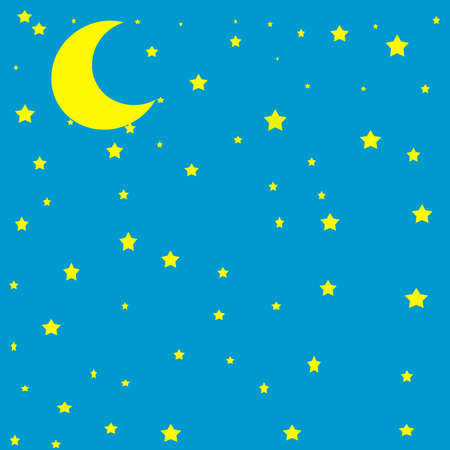 midnight time: Moon in the sky ,vector illustration Illustration