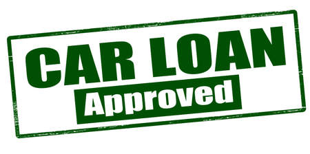 lending: Rubber stamp with text car loan approved inside, vector illustration` Illustration