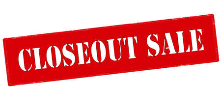 closeout: Rubber stamp with text closeout sale inside, vector illustration`