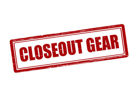closeout: Rubber stamp with text closeout gear inside, vector illustration`