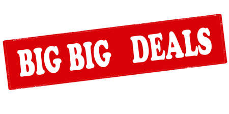 dealings: Rubber stamp with text big deals inside, vector illustration`