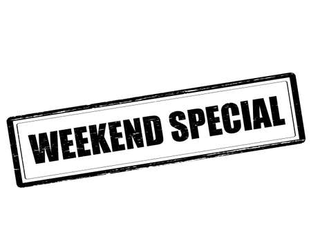 especial: Rubber stamp with text weekend special inside, vector illustration`