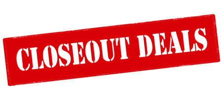 closeout: Rubber stamp with text closeout deals inside, vector illustration`