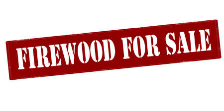 firewood: Rubber stamp with text firewood for sale inside, vector illustration`