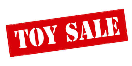 gewgaw: Rubber stamp with text toy sale inside, vector illustration` Illustration