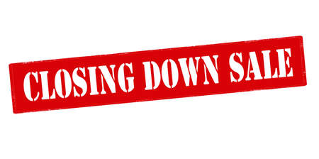down under: Rubber stamp with text closing down sale inside, vector illustration`