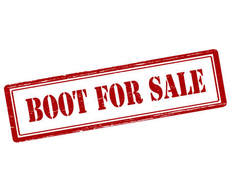 jackboot: Rubber stamp with text boot for sale inside, vector illustration`