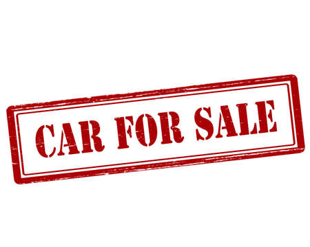 car for sale: Rubber stamp with text car for sale inside, vector illustration`