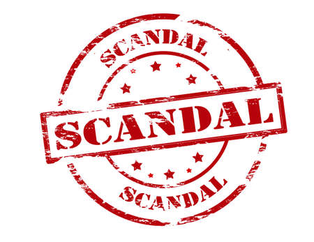 scandal: Rubber stamp with word scandal inside, vector illustration Illustration