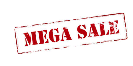 treachery: Rubber stamp with text mega sale inside, vector illustration