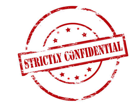 strictly: Rubber stamp with text strictly confidential inside, vector illustration