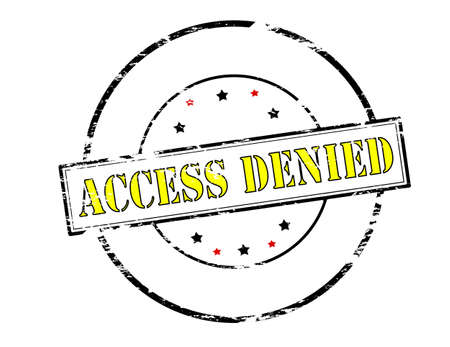 access denied: Rubber stamp with text access denied inside, vector illustration