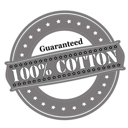 padding: Rubber stamp with text guaranteed one hundred percent cotton inside, vector illustration