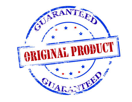 peculiar: Rubber stamp with text original product guaranteed inside, vector illustration Illustration