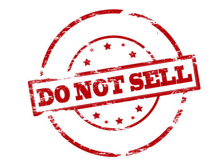realize: Rubber stamp with text do not sell inside, vector illustration