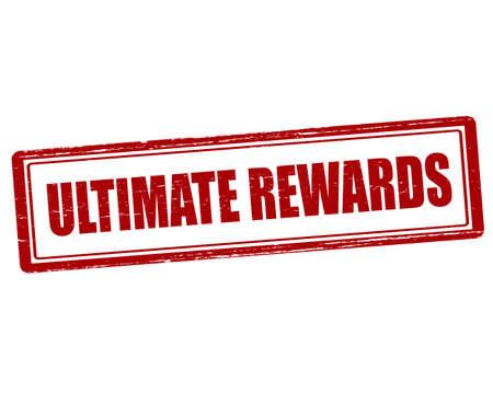 remuneraciones: sello de goma con el texto recompensa final interior, ilustraci�n vectorial