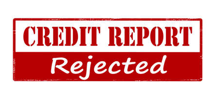 credit report: Rubber stamp with text credit report rejected inside, vector illustration Illustration