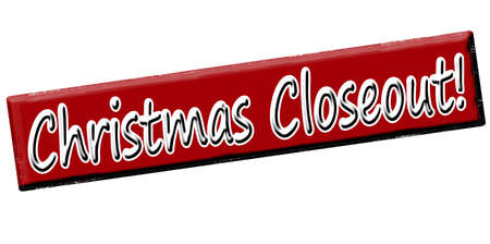 closeout: Rubber stamp with text christmas closeout inside, vector illustration