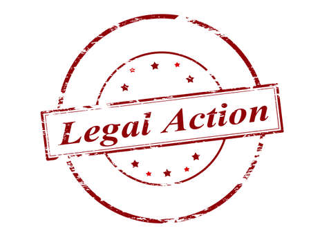 rightful: Rubber stamp with text legal action inside, vector illustration