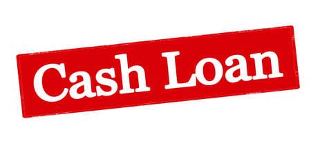 lodging: Rubber stamp with text cash loan inside, vector illustration Illustration