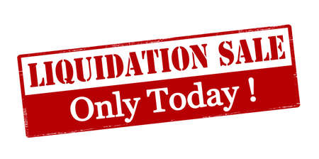 purely: Rubber stamp with text liquidation sale only today inside, vector illustration Illustration