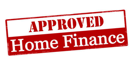 subsidize: Rubber stamp with text approved home finance inside, vector illustration