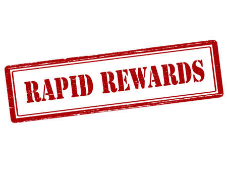 rapid: Rubber stamp with text rapid rewards inside, vector illustration