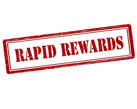 remuneraciÓn: sello de goma con el texto recompensas rápidas interior, ilustración vectorial Vectores