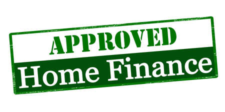 domicile: Rubber stamp with text approved home finance inside, vector illustration