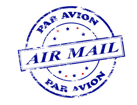 resemblance: Rubber stamp with text air mail par avion inside, vector illustration