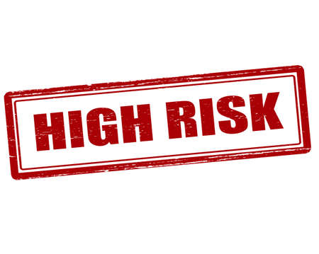 severe: Rubber stamp with text high risk inside, vector illustration