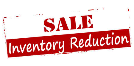 Rubber stamp with text sale inventory reduction inside, vector illustration Illustration